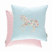 Pretty Ponies Chintz Blue 43x43