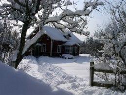 Vinterbild på Emmys hus