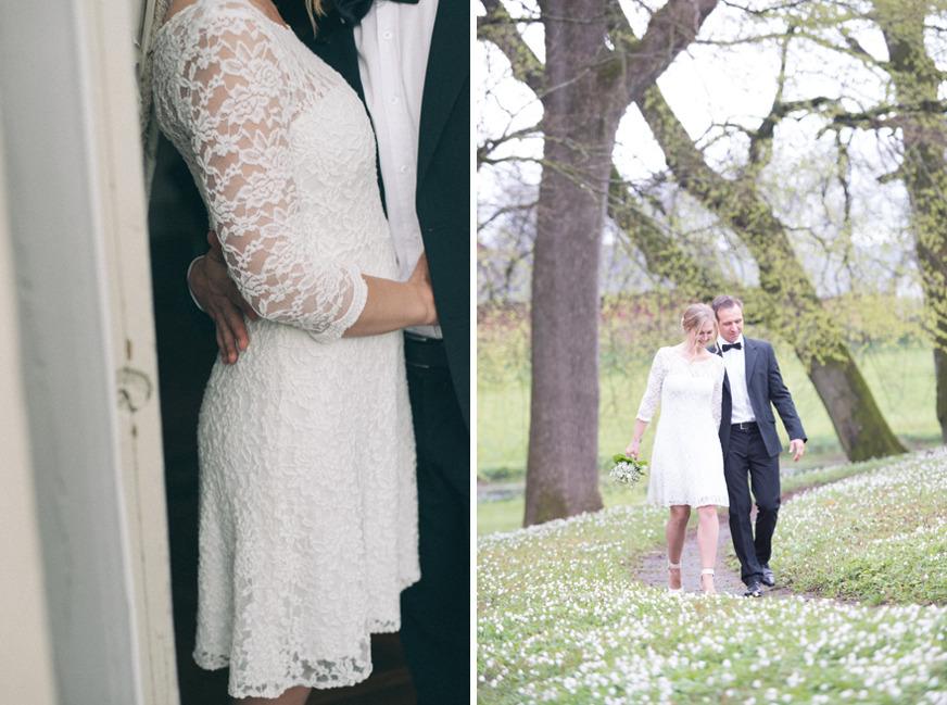 Vårbröllop på Kronovalls vinslott. Fotograf Rebecca Wallin, Skåne