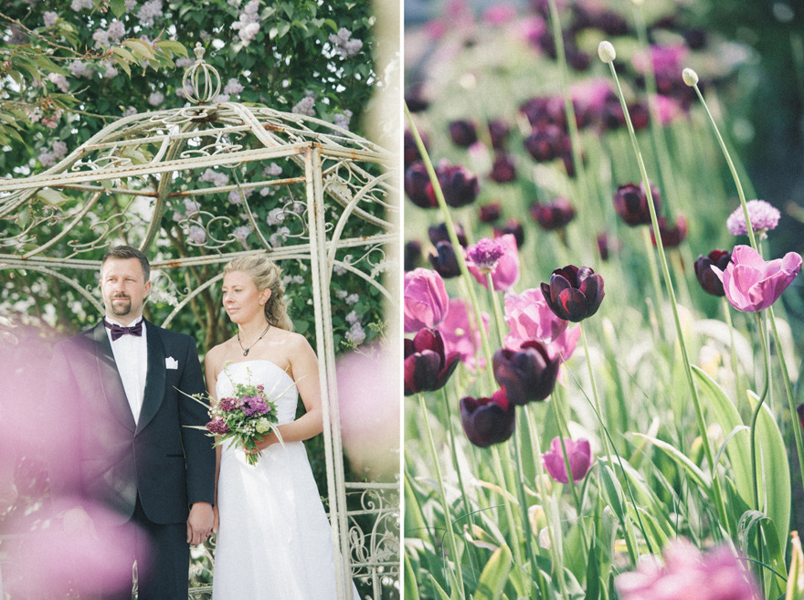 Österlenbröllop i Den engelska trädgården. Fotograf Rebecca Wallin