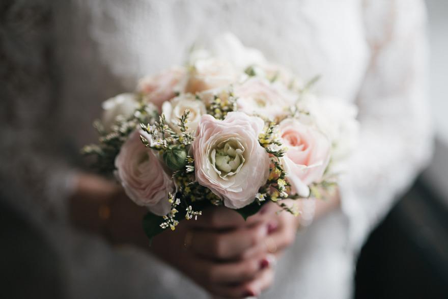 Vacker bukett från Renaisance blomster i Kivik. Fotograf Rebecca Wallin