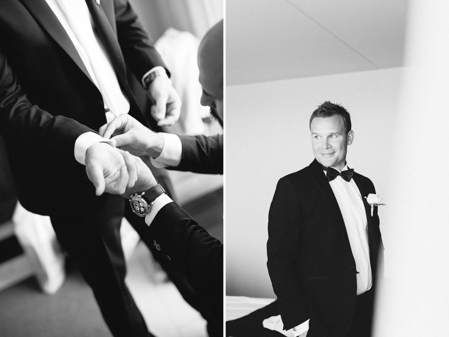 Brudgum på Hotel Tylösand. Rebecca Wallin Photography