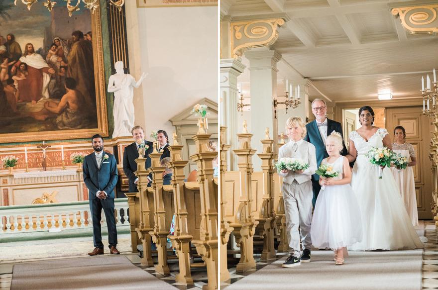 Borrby kyrka, bröllopsfotograf Rebecca Wallin