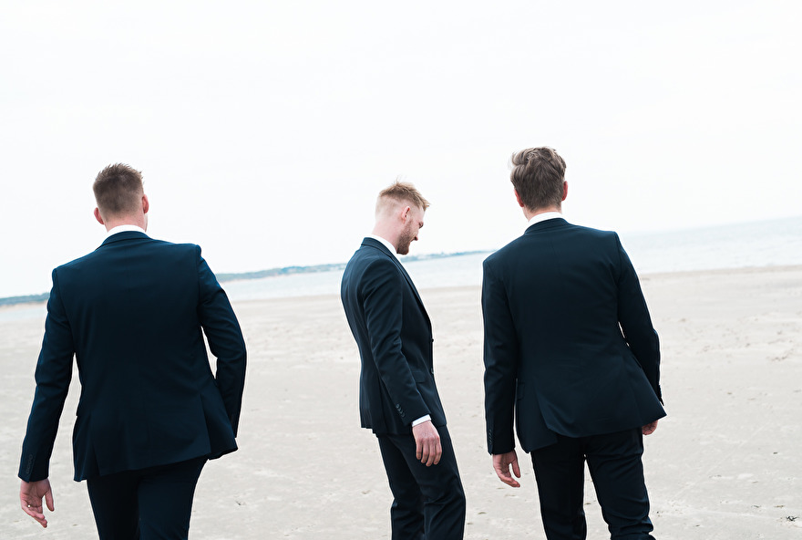 The groom and the best men. Photo by Rebecca Wallin