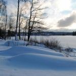 Sjön en vinterdag