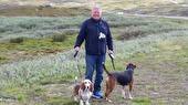 Gösta med hundarna