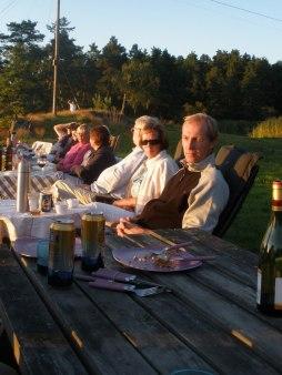 Grillkväll vid bryggan