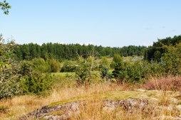 Utsikt mot norr och Spårön sett från Hyllingsunds gård.