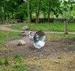 Skulptur i rostfritt. Gjord åt Joanna Eriksson, Kalmar i samarbete med Svenssons legosvets