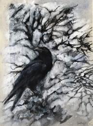 """Winter Raven"" (SÅLD)"