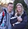 Thomas och Ellinor tog med sig Zelda till Bromma
