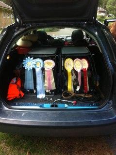 Såhär såg det ut när vi åkte hem från Skoois clubshow 2012!
