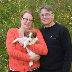 Bessie åkte med Karin och Mikael till Åmål