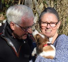 Pusskalaset började genast när Ewa och Ian kom för att ta med Heidi till Essingen.