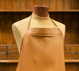 Läderförkläde - Läderförkläde brunt