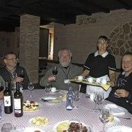 Jolly dinner group