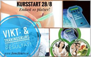 VIKTMINSKNINGS KURS - VIKT- & TRÄNINGSKURS MED GARANTERAT RESULTAT! - Viktminksningskurs start 28/8