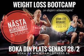 BOOTCAMP - 30 DAGARS UTMANINGEN! - BootCamp kursstart 2/3 2019