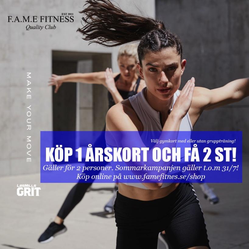 KÖP 1 ÅRSKORT OCH FÅ 2 ST! - Års kort Gym