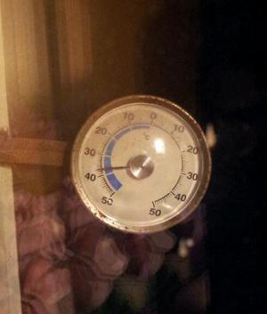 Stalltermometern 18 januari 2014.