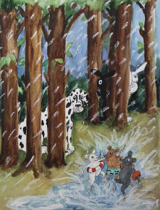 Akvarell på papper. A4.