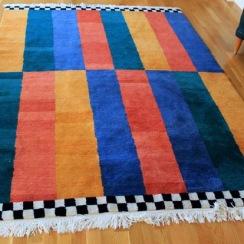 Handknuten matta i Tibetkvalitet för IKEA. 1995.
