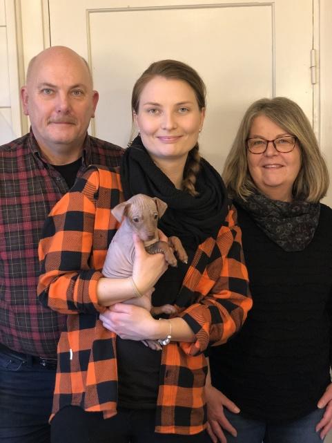 Chestnut flyttade i fredags till familjen Sjöberg i Karlskoga