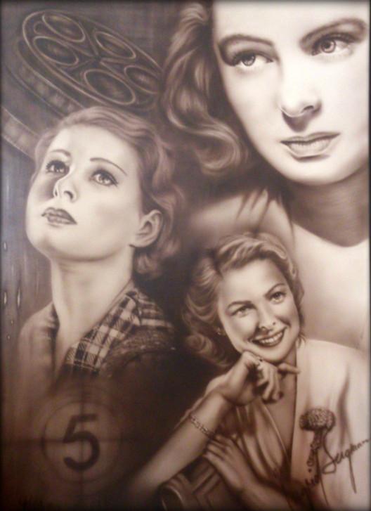 Airbrush acrylics on Ilustrationboard