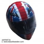 great b flag front helmet