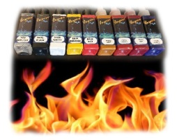 INSPIRE H20 FIRE SET - Real Fire Kit Inspire H20 50 ml *9