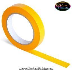 Genomskinlig Orange Maskerings Tape Rispapper - Oramge maskeringstape 24 mm