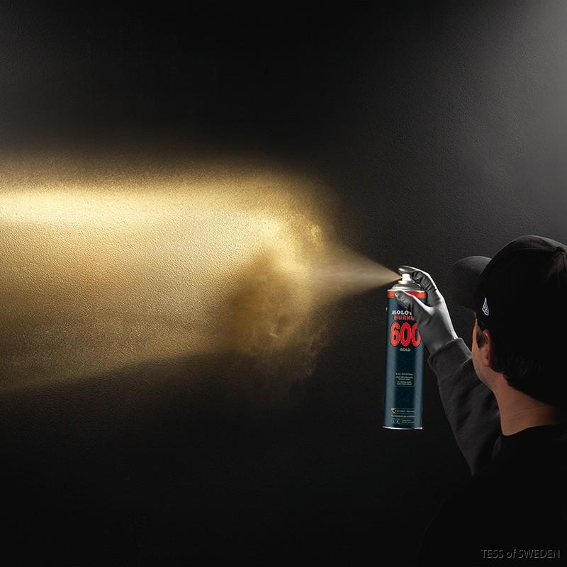 Molotow burner gold spray