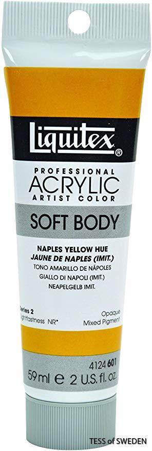 Liquitex Akrylfärg Soft Body 59ml naples yellow hue