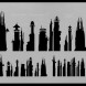 Futuristic Cityscape airbrushstencil