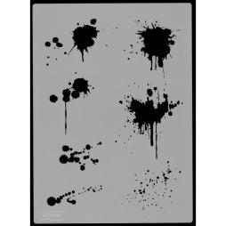 Blood Splash airbrushstencil - Blood Splash