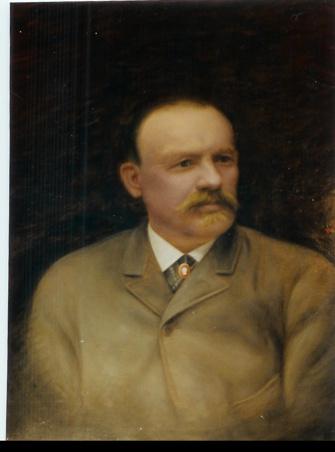 Otto Jansson (1837-1897). Porträttet hängde i styrelserummer på CM Hammar i Göteborg.