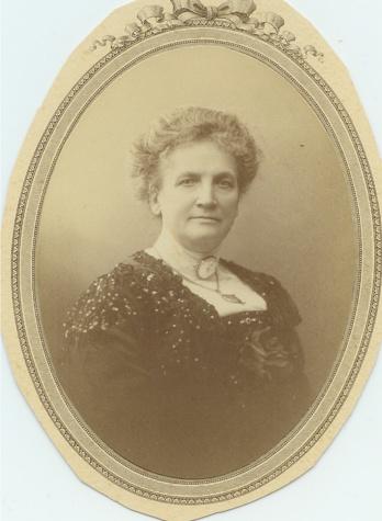Hanna Olsdotter, först gift med Carl Mauritz Hammar, därefter med Otto Jansson 1868.