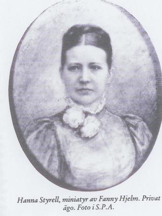 Här är Ellens mamma, Hanna Styrell artistnamn (Stjernblad) 1842-1904 och gifte sig 1876 med friherre Adolf Tersmeden och de bosatte sig Ramnäs bruk i Västmanland.