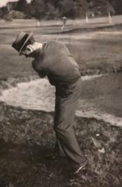 Albert senior på Lagmatch, Hovås mot Kevinge i oktober 1947.