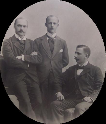 Birger, Gustaf och John Hammar ca 1905.