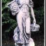 """""""Kvinna med korgar"""" Art. nr. 1402, Vikt: 17 kg, Höjd: 70 cm"""