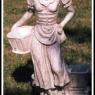 """""""Flicka med korgar"""" Art.nr: 1409, Vikt: 12 kg, Höjd: 55 cm"""