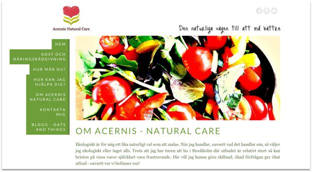 Klicka på bilden för att komma till Acernis Natural Cares hemsida.