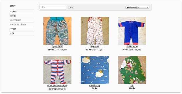 Iza har även webshop på sin hemsida.