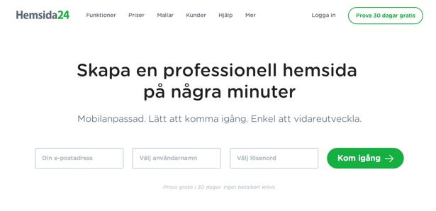Hemsida24, hemsideverktyg
