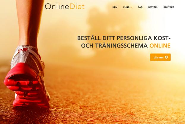 onlinediet, hemsida24, startsida, hemsida