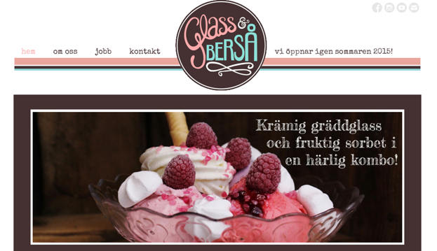 Glass & berså, glassretaurangen