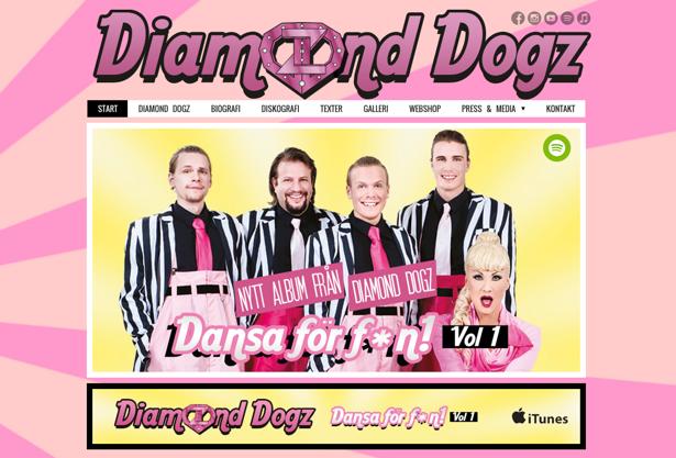 Diamond dogz, dansband, Peter Englund, Hemsida24, månadens hemsida