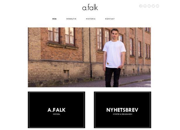 a.falk, hemsida, hemsida24, webbshop, e-butik