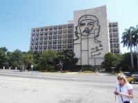 Che Guevara vid Plaza de la Revolucion